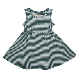 Little Indians: Dress forest stripe
