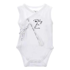 Baby de Luxe: romper mouwloos wit