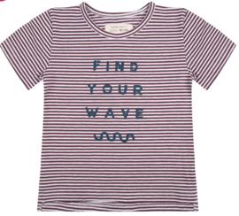 Little Indians: Shirt - find your wave - purple stripe