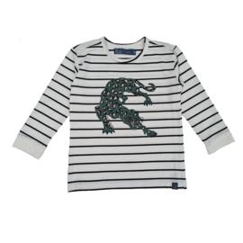 Smitten Organic: Longsleeve striped - Green Leopard