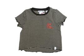 Nik & Nik: Fool for you tshirt/black/off white stripe