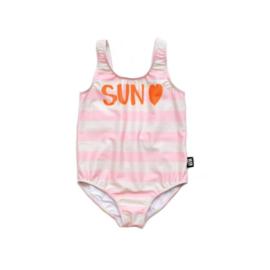 Little Man Happy: Sun Heart Swimsuit roze