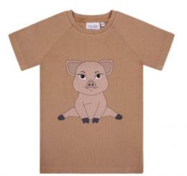 Dear Sophie: Piggie - brown rib t-shirt