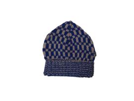Imps&Elfs: Gebreide muts blauw/roze 3160042