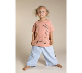 Little Man Happy monkey business t-shirt - roze