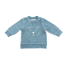 Jollein: Sweater velours teal
