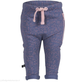 Noeser: Pim Long Wide Bottoms AOP science blue/pink