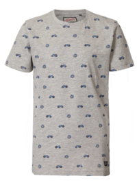 Petrol: Jongens T-shirt met all-over print - grijs