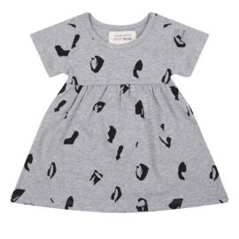 Little Indians: Dress Animal - Grey Melange