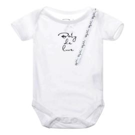 Baby de Luxe: romper korte mouw wit