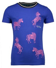 B.Nosy: Zebra T-shirt - blauw