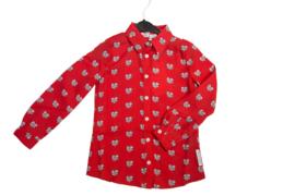 Nik & Nik: Olivia heart blouse red