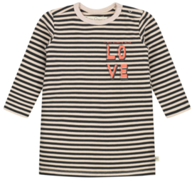 Smitten Organic:  Dress stripe - black-white