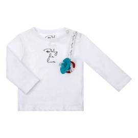 Baby Deluxe t-shirt met speenkoord - wit