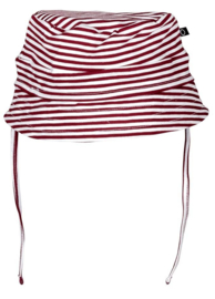 Noeser:  Bucket hat stripe red