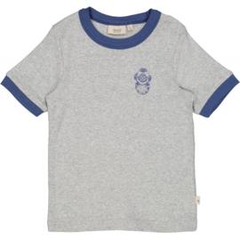 Wheat: T-shirt Mogens - Melange grey