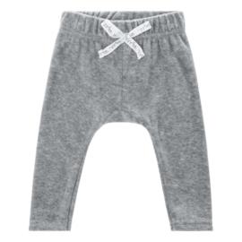 Baby deLuxe: broekje teddystof - grijs BDL04