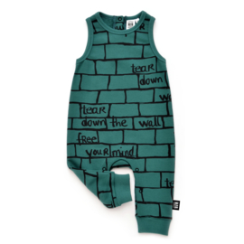Little Man Happy Tear down the wall jumpsuit - groen
