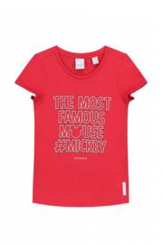 Nik & Nik: Mickey Famous T-shirt - Poppy Red