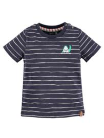Babyface: gestreept t-shirt - blauw