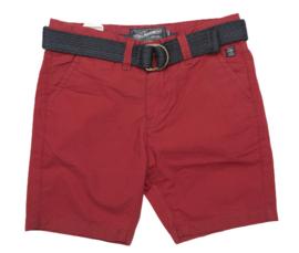 Petrol: Shorts met riem rood