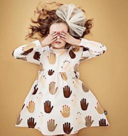 Little man happy:  Hand longsleeve dress