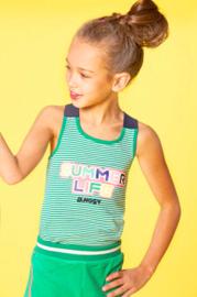B.Nosy: Meisjes tanktop - groen gestreept