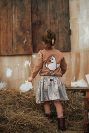 Dear Sophie: Meisjes Grey Chicken Skirt