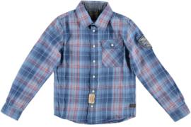 Petrol: B-1000-SIL420 overhemd blauw