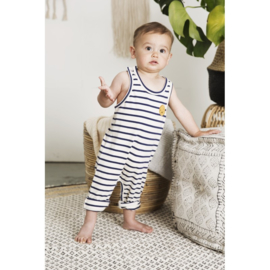 Little Indians: Jumpsuit happy faces summer stripe