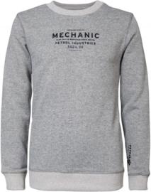 Petrol: Sweater 'mechanic' - grijs