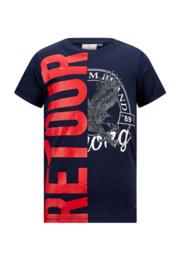 Retour: T-shirt Elwin - 5085 Dark Navy