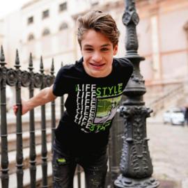 Vingino: T-shirt Heffie Deep Black