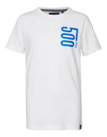 Petrol: Jongens T-shirt met opdruk - wit