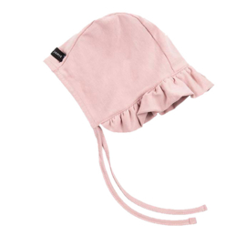 House of jamie: Ruffled Bonnet Powder Pink