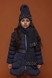 Le Chic: Sjaal parels  Navy - Girls