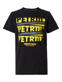 Petrol: T-shirt logo opdruk - Zwart