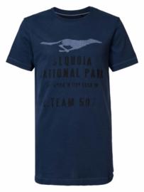 Petrol: T-shirt - Donkerblauw