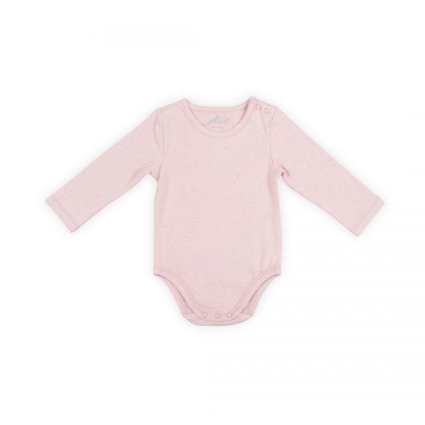 Jollein: Romper long sleeve mini dots blush pink