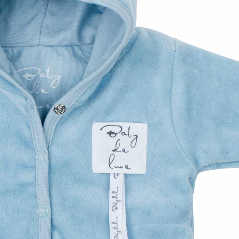Baby deLuxe: Capuchonvest teddystof blauw - BDL09