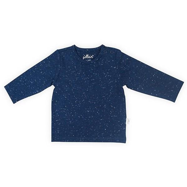 Jollein: Shirt long sleeve speckled blue