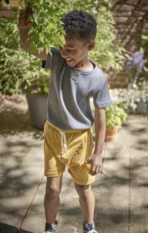 House of Jaimie: Cross Over Shorts - Honey Mustard