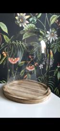 Stolp 23x29 cm met houten plateau