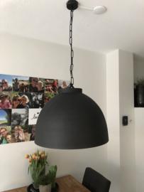 Hanglamp zwart zwaar metaal (5 kg) 42x60 cm