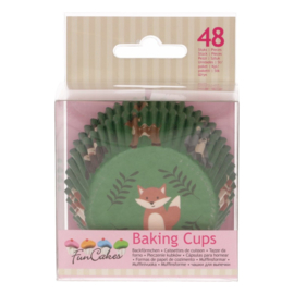 Funcakes baking cups forest animals pk/48