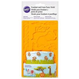 Wilton fondant & gum paste mold Jungle Animals