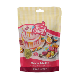 Funcakes Deco Melts Lime Green 250 g