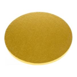 Decora cake drum Ø 25 cm goud