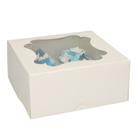 Funcakes cupcake doos voor 4 cupcakes (per stuk)