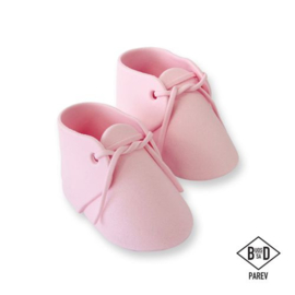 PME edible cake topper Baby Boots Pink pk/ 2
